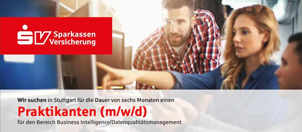 Praktikanten (m/w/d) für den Bereich Business Intelligence/Datenqualitätsmanagement
