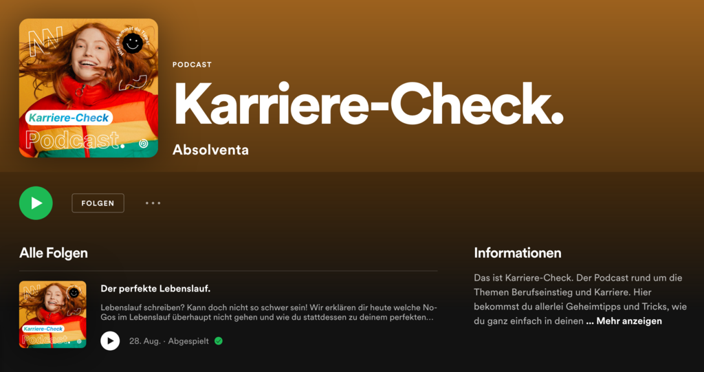Cover vom Podcast Karriere-Check