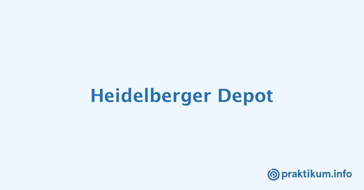 Aktuelle Praktikumsplätze Bei Heidelberger Depot Praktikuminfo