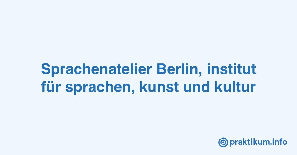 Praktikum im Sprachenatelier Berlin (Sprachenatelier)