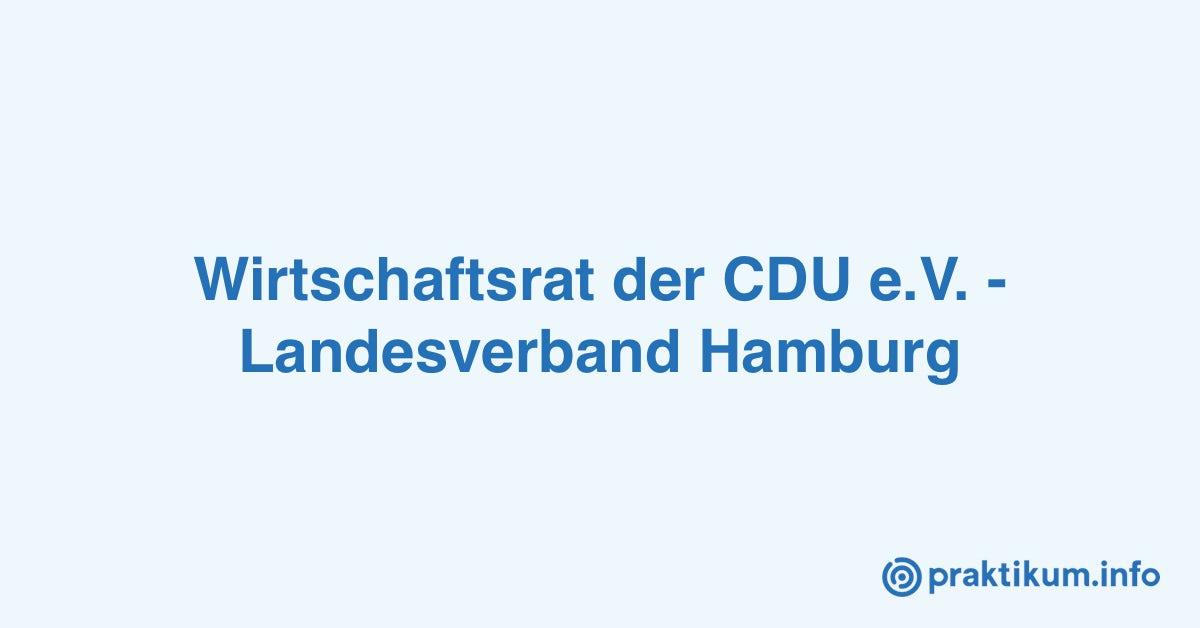 Cdu Landesverband Hamburg