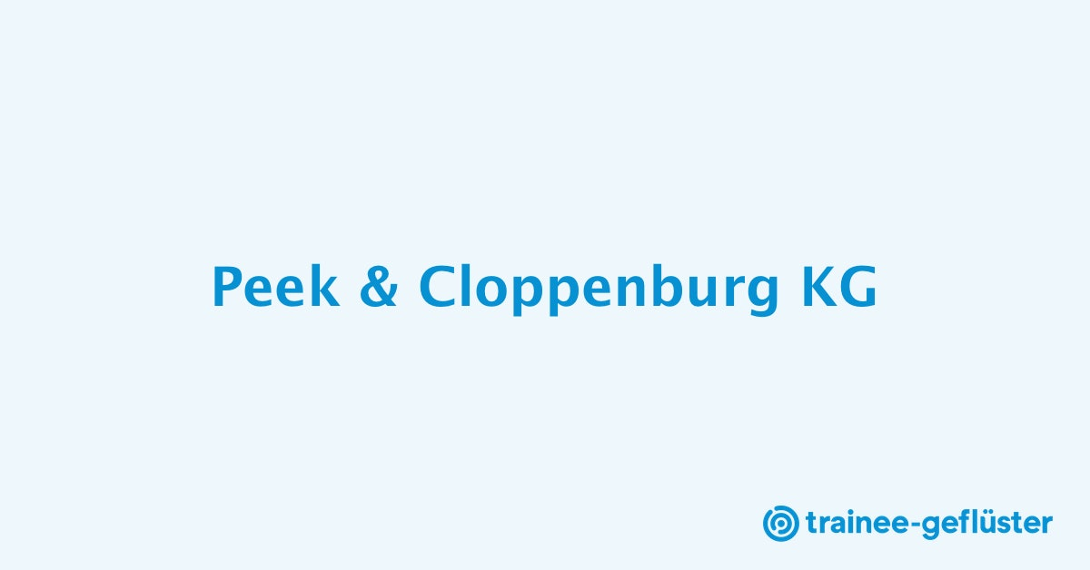 25edd3f247256a Trainee bei Peek   Cloppenburg KG - trainee-gefluester.de