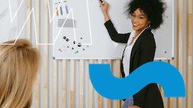 Ideen für die Selbstpräsentation mit Flipchart oder Whiteboard.