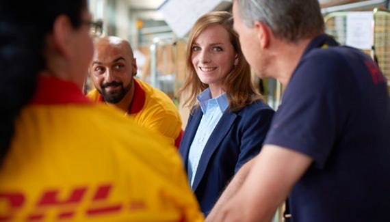Trainee bei der DHL Group.