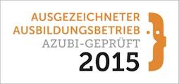 Ausgezeichneter Ausbildungsbetrieb 2015