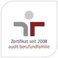 """Zertifikat zum """"audit berufundfamilie"""""""