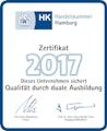 Zertifikat der Handelskammer Hamburg