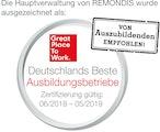 A&S wurde ausgezeichnet als: Great Place to Work – Deutschlands Beste Ausbildungsbetriebe (Zertifizierung gültig 06/2018 - 05/2019)