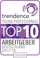 trendence Young Professionals Top 10 Arbeitgeber Logistik 2017/18