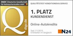 n24 Test 11/2015 - 1. Platz Kundendienst