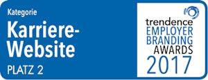 trendence Employer Branding Awards – Karriere Website Platz 2
