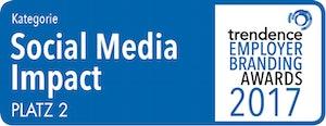 trendence Employer Branding Awards – Social Media Impact Platz 2
