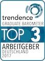 trendence Graduate Barometer Top 3 Arbeitgeber Deutschland 2017