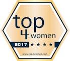 """Goldenes Signet """"top4women"""""""