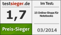 testsieger.de, Preissieger Notebooks-Shops, März 2014
