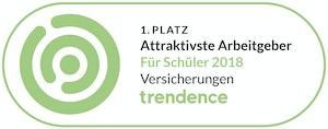 1. Platz Attraktivste Arbeitgeber für Schüler 2018- Trendence