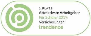 1. Platz Attraktivste Arbeitgeber für Schüler 2019- Trendence