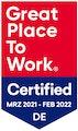 Great Place To Work Zertifizierung, März 2021 - Februar 2022