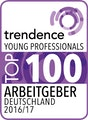 trendence Young Professionals Top 100 Arbeitgeber 2016/17