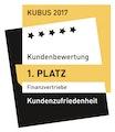 KUBUS-Gütesiegel 2017 Kundenzufriedenheit
