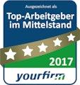 Top-Arbeitgeber im Mittelstand 2017 (yourfirm)