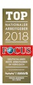 Focus -  Top Nationaler Arbeitgeber 2018