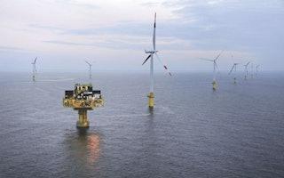 Windparkanlage in der Nordsee