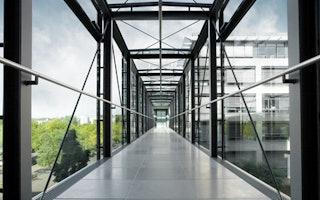 Verbindungsbrücke zweier Gothaer Gebäude