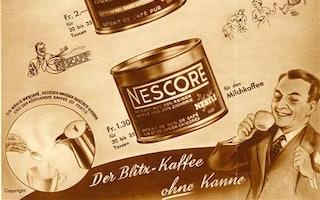 Nescafé Dose- Eine Zeitungsanzeige in der Schweiz aus dem Jahr 1938