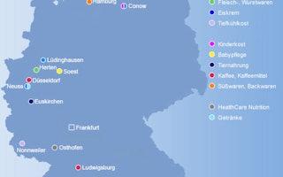 Die Standorte der Nestlé Deutschland AG
