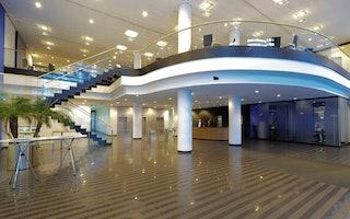 Eingangsbereich der Zentrale in Hamburg