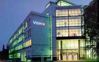 VGH Versicherungen -Direktion nachts von außen