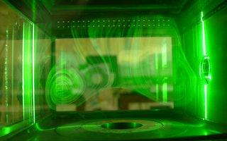 Geschwindigkeitsmessung an einer druckbeaufschlagten Brennkammer