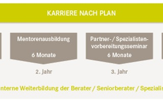 Karriere nach Plan