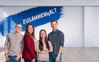 Zusammenhalt Team Signal Iduna Azubis